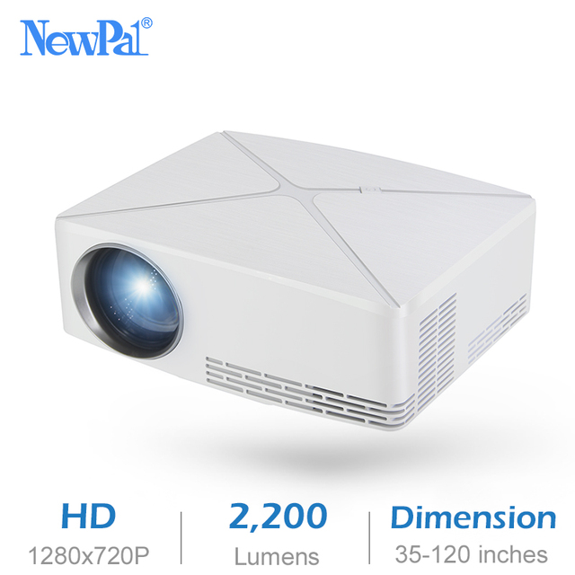 Newpal C80 UP Mini Projector 2200Lumens Projector 1280x720P Home Cinema (Android WIFI Option) 720P HD Beamer LED Proyector c80 1