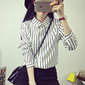 blusas Casual fashion brand spring/autumn style woman blouses Black and white stripes shirts macacao feminino long Sleeve tops