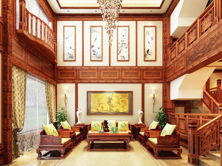 4 шт. диван-кровать 1+ 3 сиденья Бирма палисандр Диван домашний отель гостиная комната набор мебели грагон трон чайный стол люксы современный