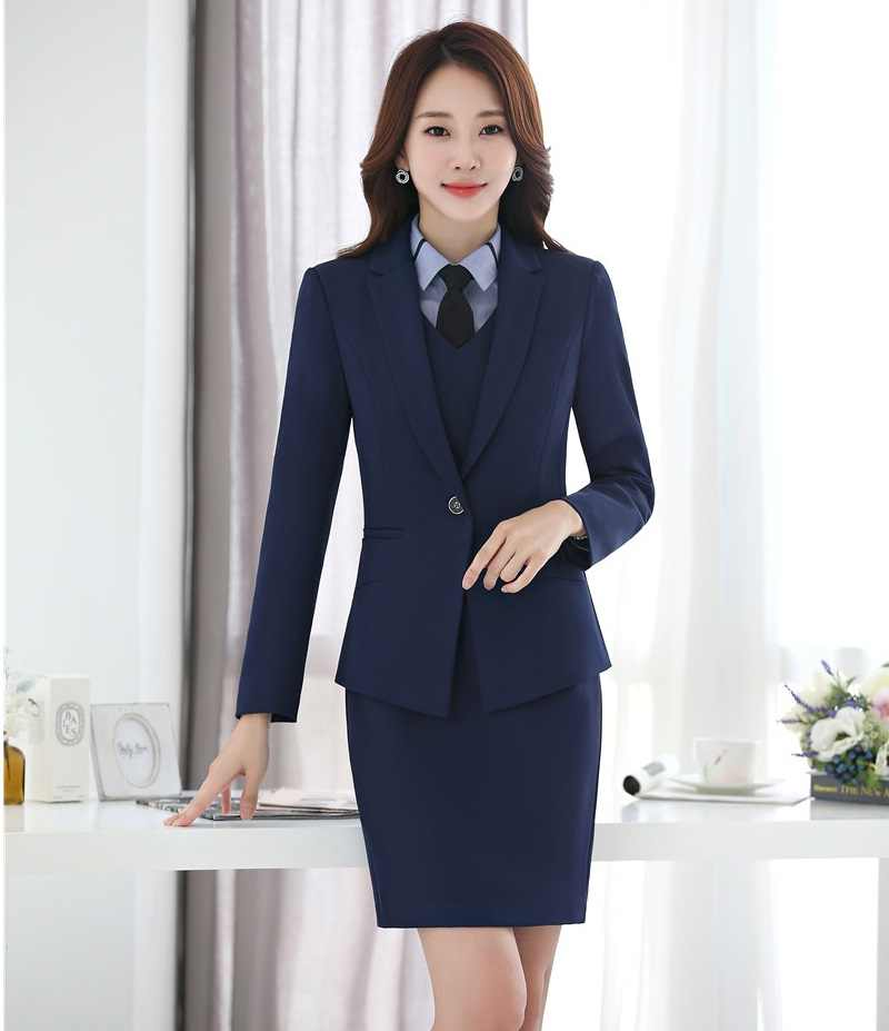 50c4132c273 AidenRoy Formal Ladies Dress Suits for Women Business Blazer and Jacket  Sets Elegant Office Uniforms Styles