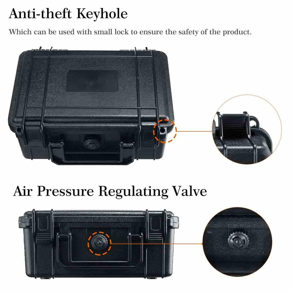 Защитный ящик для инструментов безопасности водонепроницаемый противоударный ящик для инструментов герметичный чехол для инструментов ударопрочный чемодан с губкой