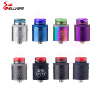 2018 NEW Electronic Cigarette Atomizers Hellvape Drop Dead RDA 24mm dual coil with 810 Rein Drip Tip