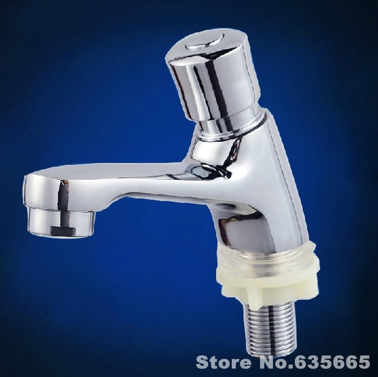 Single Cold Water Press Type Time lapse Self closing Tap Public ...