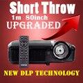 Tiro corto Proyector de Vídeo 3D 1080 P LED 7500 Lúmenes para el Día Juego de películas Proyector DLP Full HD Led Proyector Para uso En el Hogar