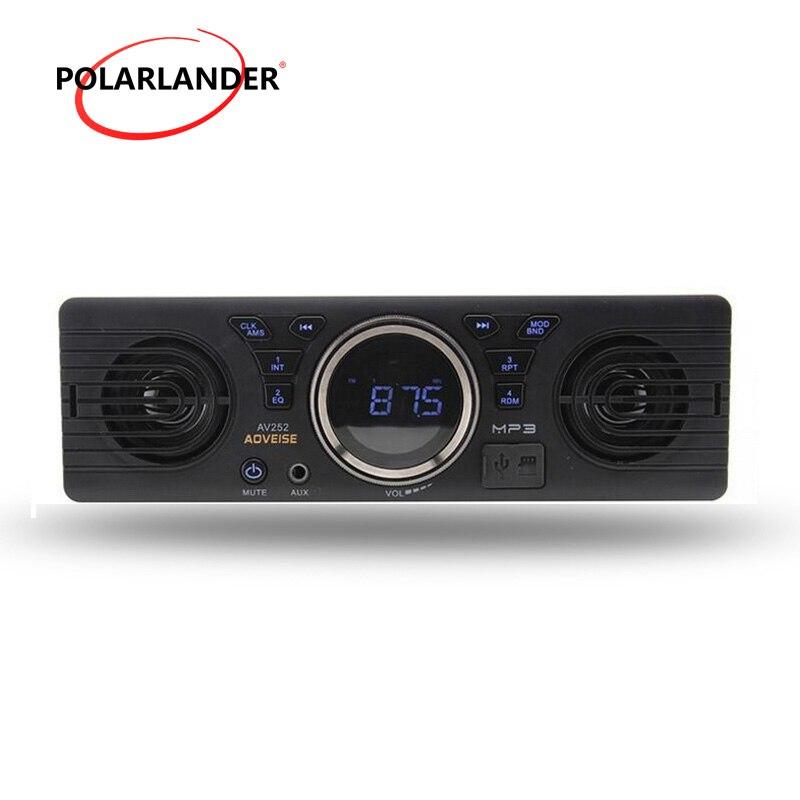 12V Bluetooth handfree car radio FM USB SD AUX en audio estéreo AV252 incorporado 2 altavoces en el tablero reproductor de MP3 5 uds 3,5mm conector de clavija de Metal estéreo de 3 polos adaptador de enchufe y Jack 3,5 con terminales de cable de soldadura enchufe estéreo de 3,5mm
