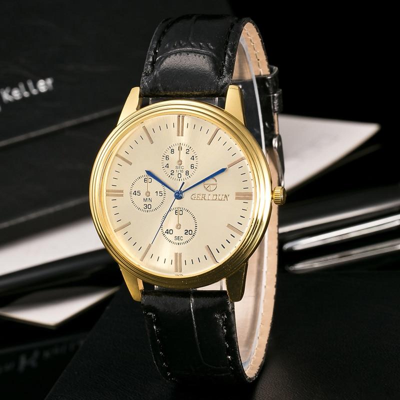 Bestverkopende Militaire Horloges Herenmode Gestreept Leer Kwarts - Herenhorloges - Foto 4