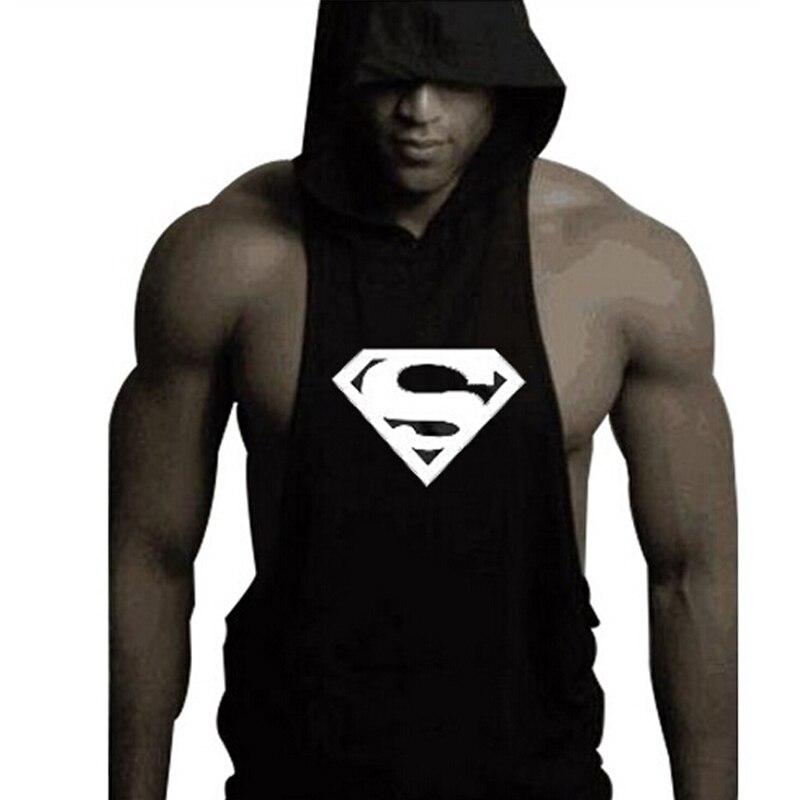 Hoodie Batman Tank Stringer Golds Men Bodybuilding Gym Muscle FAST SHIPPING!!!