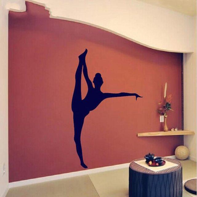 mooie danser vinyl gymnastiek meisje muurstickers sticker kids slaapkamer of speelkamer decor u kiezen kleur