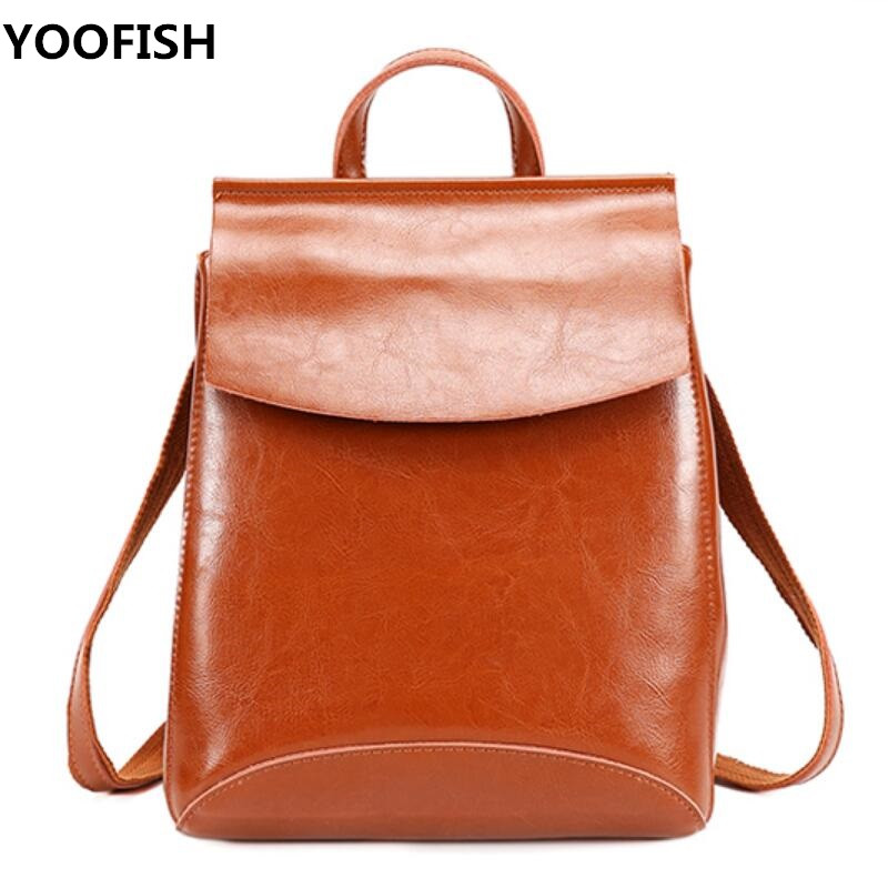 New Design Pu Women Leather Backpacks School Bag Student Backpack Ladies Women Bags Leather Package Female