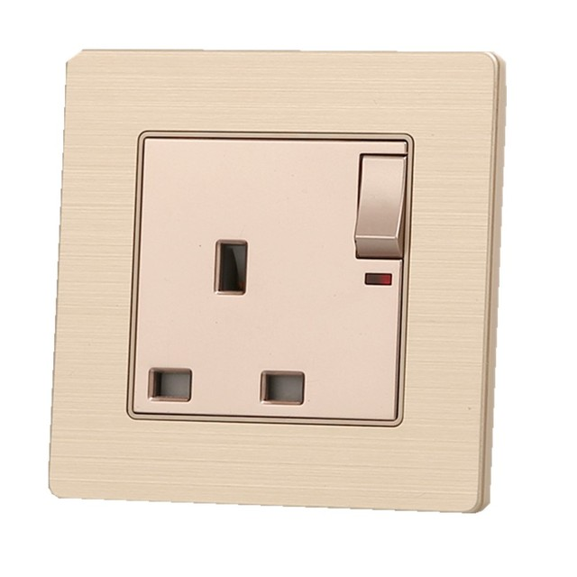 Factory Price Wall Power Switched Socket, 13A UK Standard Electrical ...