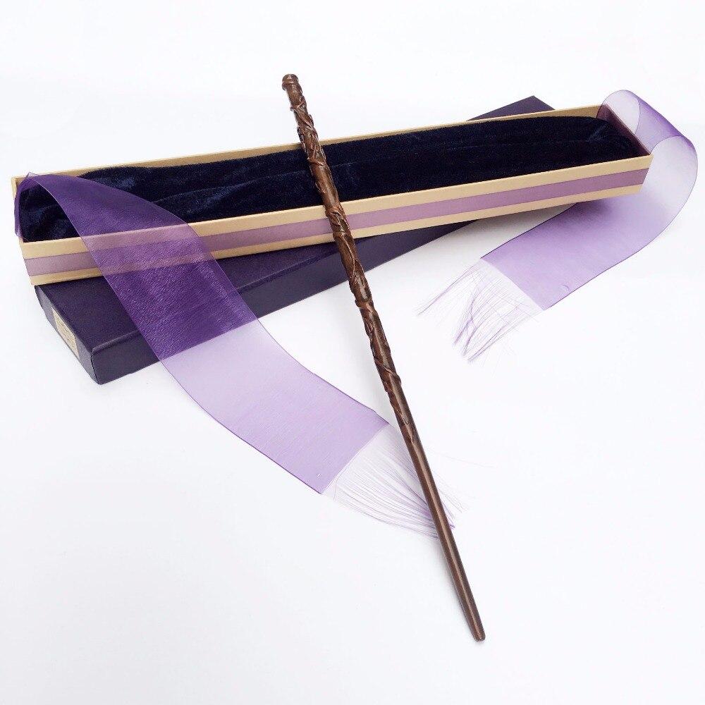 Colsplay nuevo Metal/núcleo de hierro Hermione Granger varita/mágico de Harry Potter varita mágica/elegante regalo cinta caja de embalaje