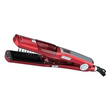 קיטור מקצועי שיער מחליק מהיר שטוח ברזל חשמלי מיישר קרמיקה titanium צלחת באיכות גבוהה 220 240V