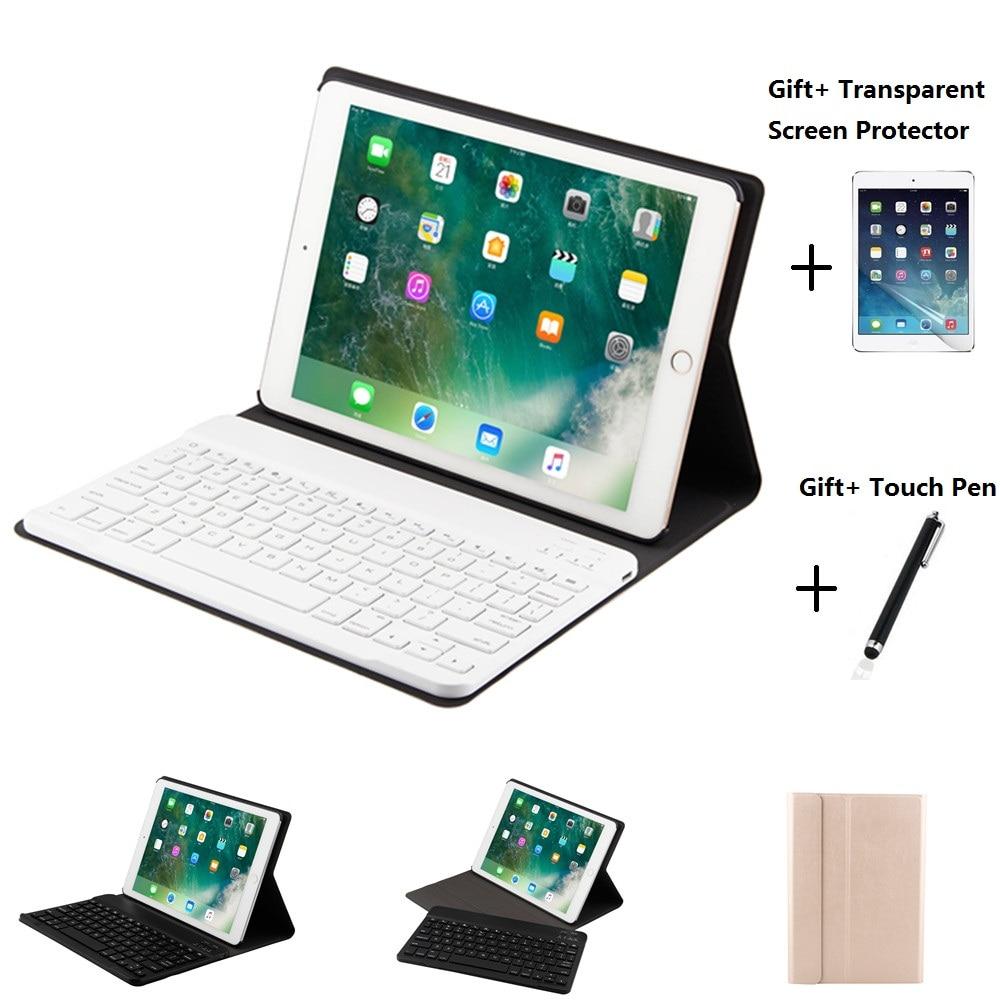 Étui en cuir fendu avec étui pour clavier bluetooth pour iPad Mini 1234 Air 1 2 iPad 2017 2018 9.7 Pro 10.5 11 pouces Air 2019