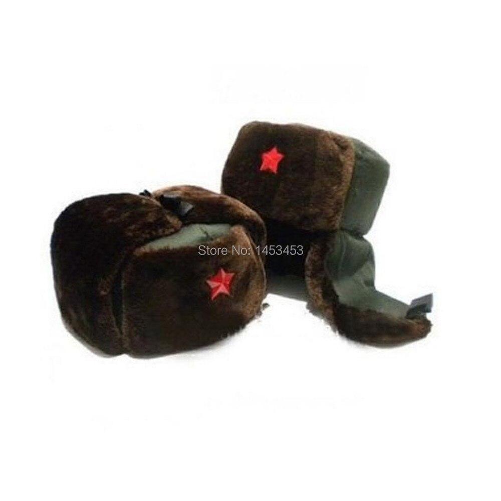 Kioninai 2017 Military Hats Nostalgic Style Bomber Russian Army Winter Hat Wh 94 Chinese Trooper Ushanka Green Warm Cap Red Star Badge