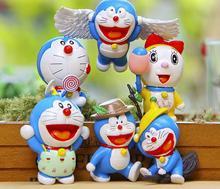 6pcs/lot Doraemon Mini Figures Cute Flying Doraemon Dorami Classic PVC Action Figure Toys Collection Model Toy for Birthday Gift