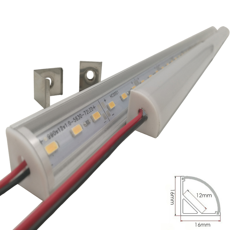 Wall Corner LED Bar Light DC 12V 50cm SMD 5730 Rigid LED