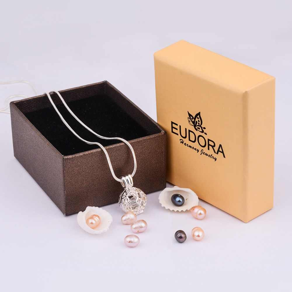 EUDORA 8mm Sliver - ไข่มุกสร้อยคอเซลติกส์ Knot จี้สร้อยคอ 8 pc Pearl เครื่องประดับ Fine สาวของขวัญ K252N08