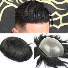 SimBeauty, полностью полиуретановый мужской парик, прочный, 0,06-0,08 мм, кожа, натуральный вид, волосы remy, мужской парик, человеческие волосы, полностью ПУ, заменяет мужские парики ts