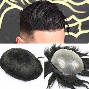 SimBeauty Full PU Men toupee Durable 0.0