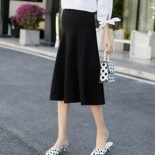 Новая модная Корейская версия стрейчевой юбки для беременных юбка с подъемом живота юбка платье