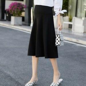 Image 1 - 2020 חדש אופנה קוריאנית גרסה של למתוח יולדות חצאית הרמת בטן חצאית חצאית שמלה