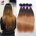 Brazilian Virgin Hair Straight 3 Bundles Ombre Brazilian Hair Ombre Human Hair Ombre Weave Brazilian Straight Hair 1B/27 Weave
