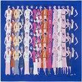 Moda Mulheres Lenço de Sarja De Seda 130*130 centímetros Muito Moda Feminina homem Impresso Lenços Quadrados de Impressão de Presente de Alta Qualidade Grande de Seda xale
