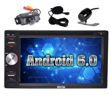 "Free Front Camera + EinCar Android 6.0 Double Din Car DVD Player GPS Navigation 6.2"" multi-language Stereo Radio Receiver"