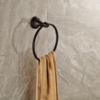 Oil Rubbed Bronze Free Shipping Wall Mounted Round Towel Ring Holder Towel Bar