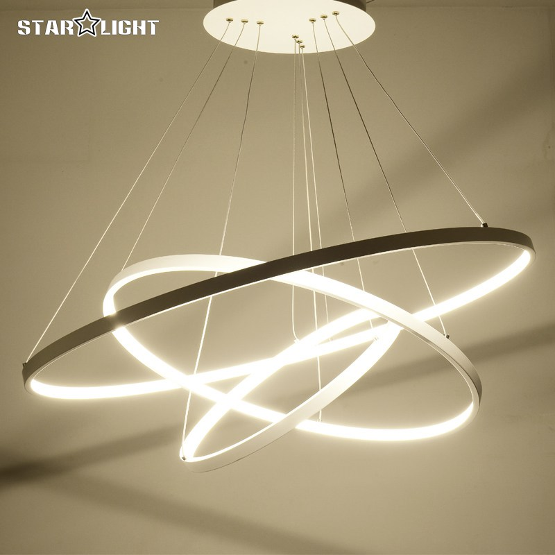 Aliexpress.com : Buy 3 Ring circles modern led pendant ...