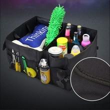 Автомобиль Multi-карман-органайзер складная сумка для хранения уборки для Skoda Octavia A2 A5 A7 Fabia быстрое Superb йети Roomster