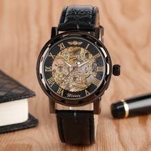 Hot Sale Winner Elegant Mechanical Wrist Watch Stainless Steel Dial Case Hollow Skeleton Stylish Men Women Watches