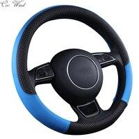 Car Wind 38 CM Leather Auto Car Steering Wheel Cover Black Steering Wheel Cover For Toyota