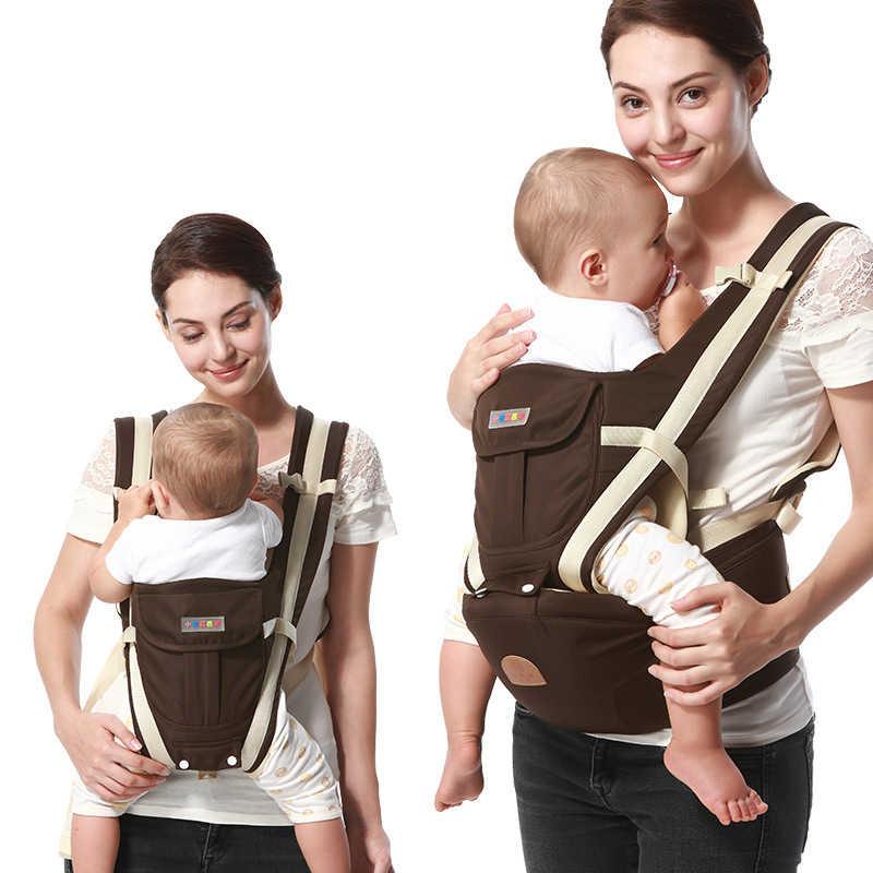 Ergonomic Baby Carrier กระเป๋าเป้สะพายหลัง Breathable Bebe Kangaroo Hipseat Mochila เด็กวัยหัดเดินทารกเอวสตูลแบบถอดได้