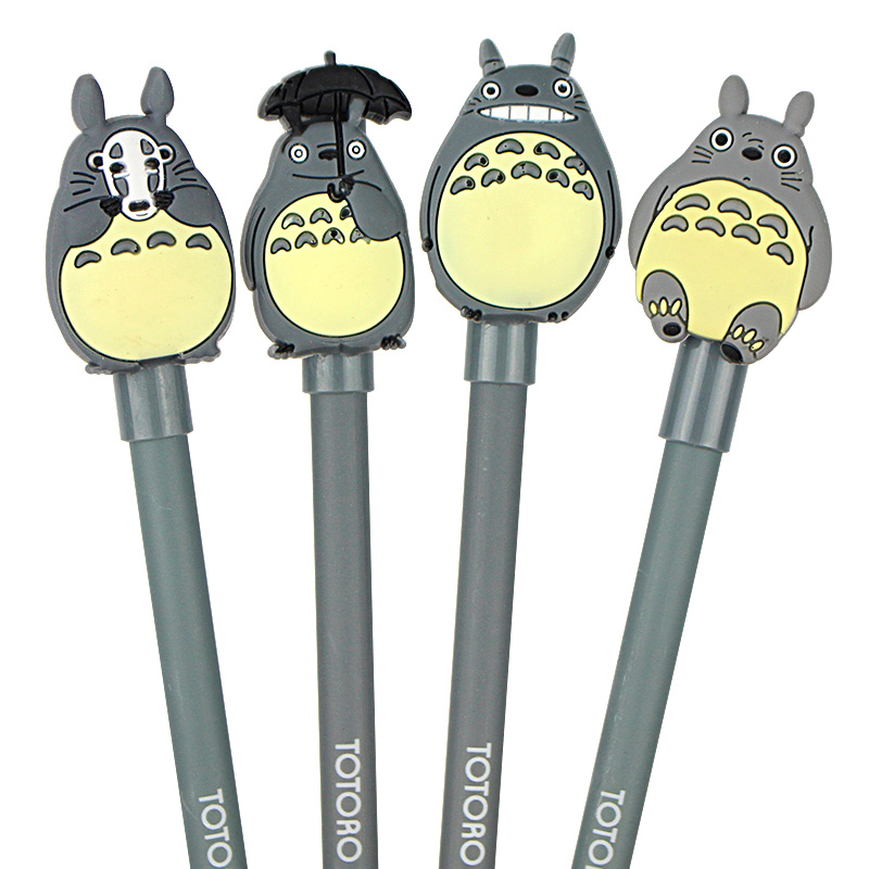 4 Pcs / Lot Novelty Lovely My Neighbor Totoro Gel Ink Pen Papelaria Escolar School Office Supply Promotional Gift Signature Pens недорого