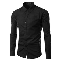 BRAND UUYUK 2013 Mens Slim Fit Unique Neckline Stylish Dress Long Sleeve Shirts Mens Dress Shirts