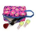 2017 Nuevas Mujeres de La Moda bolsa de Cosméticos Bolsa de Bolsa Plegada Monedero Lindo bolsa Con Cremallera Señora Neceser de Viaje Bolsa de Maquillaje Bolsas Floarl estilo