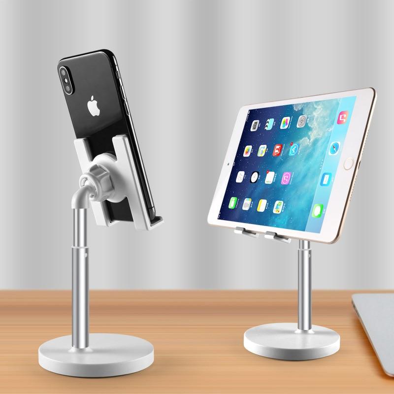 Universal Mobile Phone Tablet Pad Holder Lifting Stand CellPhone Desk Bracket For iphone iPad Samsung Desktop Holder Accessories