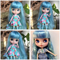 MANDY COTTON CANDY  NUDE DOLL WITH CLOTHES BLUE MIX MINT HAIR with bangs