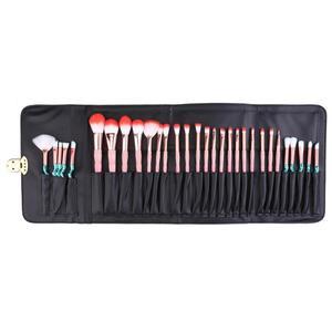 Image 2 - 1 adet PU siyah kozmetik kalemler rulo tutucu Fashional makyaj fırçalar kılıf çanta kılıfı için standart uzunluk fırçalar çanta için makyaj