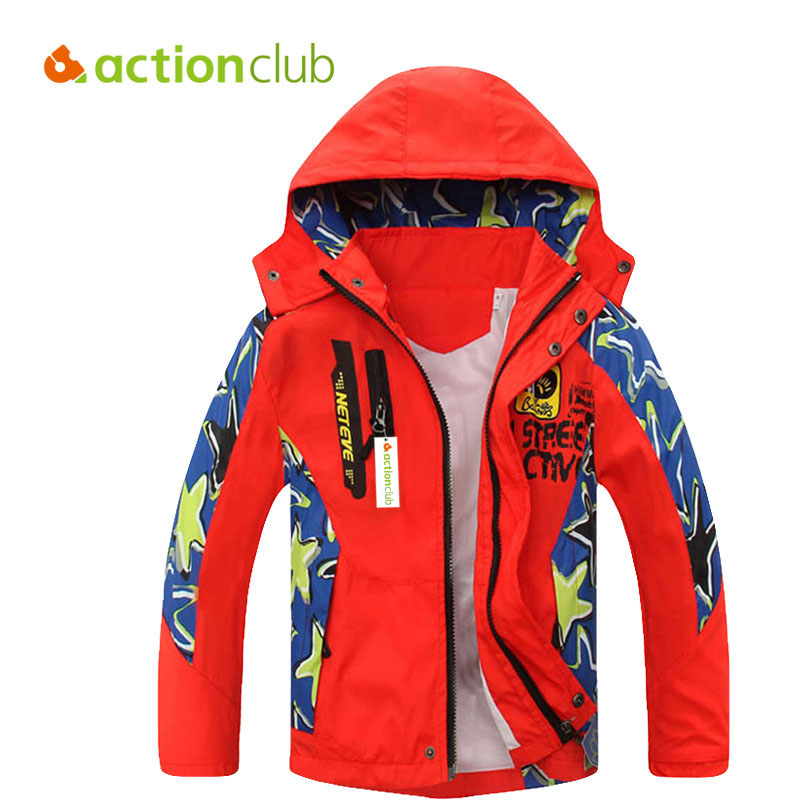Actionclub 2016 Boys Jackets Kids Casual Windproof Waterproof Outerwear Boys Sport Clothes Spring Autumn Children Clothing