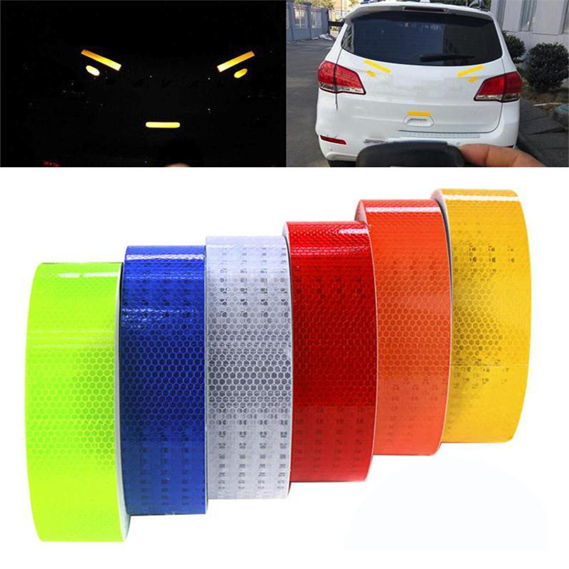 Reflective Tape 5*300cm Safety Warning Material Stickers Motorcycle Cycling Car Sticker 6 colors High Quality Car Styling