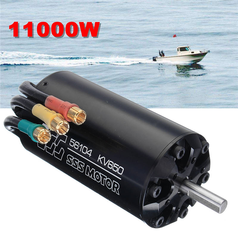 SSS 56104/650KV 11000W Brushless Motor 6 Poles W/O Water Cooling For RC Marine Boats цена