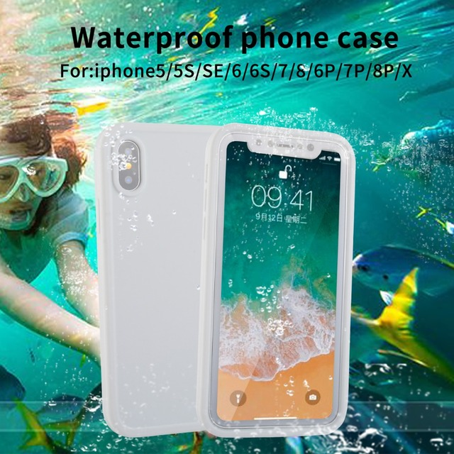 Aliexpress.com : Buy For iPhone 5 5S IP68 Real Waterproof Case For iPhone 5 5S SE X 8 7 6 Plus