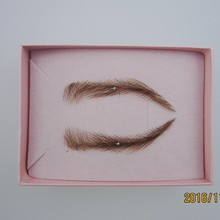 2017 Top Fashion Limited Easy To Wear Full Size Eyebrow Sobrancelha Sale Realistic Eyebrows,human Hair Lace Brow Free Shipping