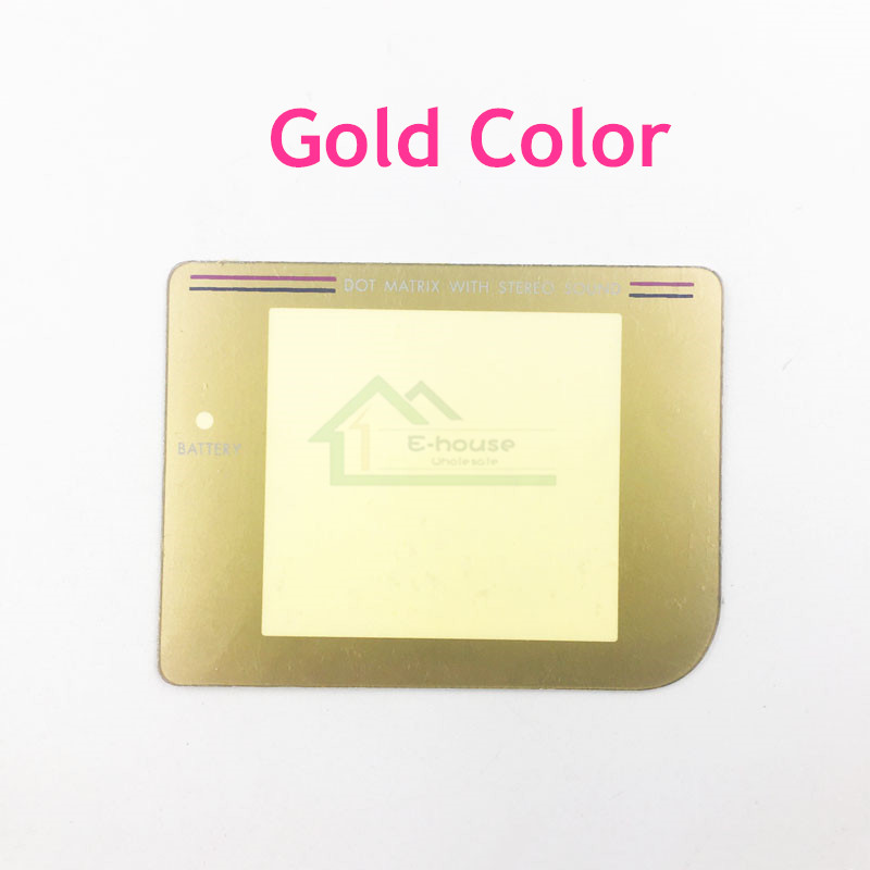 Gold color plastic screen len cover for Nintendo GameBoy for GB Game Console Screen