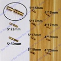 4pcs size 4x15mm / 5x19mm/ 5x25mm Pure Copper Brass Wine Jewelry Box Hidden Invisible Concealed Barrel Hinge