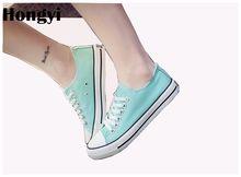 Лидер продаж hongyi 7 цветов летняя парусиновая обувь для женщин