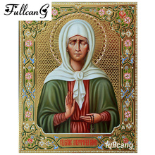 religious ICONS diamond painting cross stitch portrait mosaic full diamond embroidery square rhinestone embroidery people C669