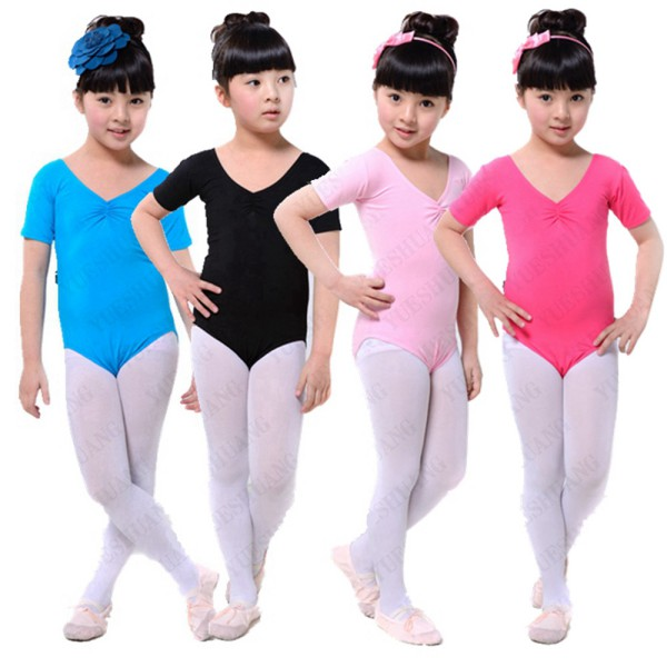 Kids Girls Ballet Dance Costumes Cotton Gymnastics Skating Clothes Leotards L07 new girls ballet costumes sleeveless leotards dance dress ballet tutu gymnastics leotard acrobatics dancewear dress